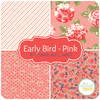 Early Bird Pink Fat Quarter Bundle (4 pcs) by Bonnie and Camille for Moda (BC.EB.PI.4FQ)