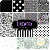 Linework Layer Cake (42 pcs) by Tula Pink for Free Spirit (FB610TP.LINEWORK)