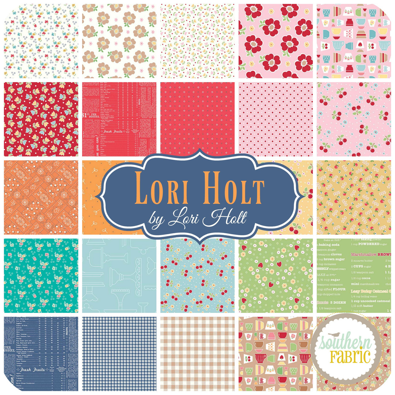 LH.10FQ.C by Mixed Designers for Southern Fabric Lori Holt Fat Quarter Bundle