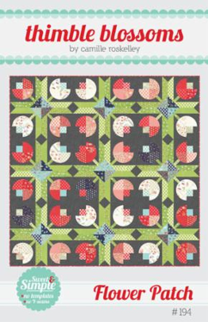 Flower Patch Pattern by Thimble Blossoms - front