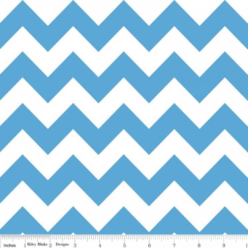 Chevrons Medium - Chevron - Medium Blue (C320-22) by The RBD Designers for Riley Blake PRICE PER HALF YARD