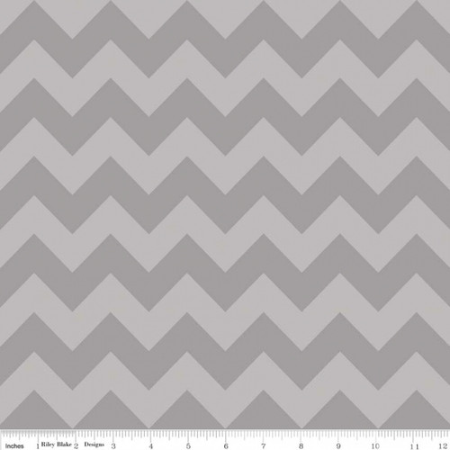 Chevrons Medium - Chevron - Tone on Tone - Gray (C380-41) by The RBD Designers for Riley Blake PRICE PER HALF YARD