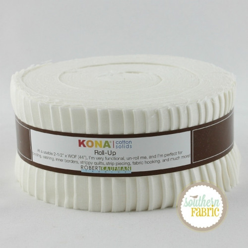 Kona - Snow Jelly Roll (40 pcs) by Robert Kaufman (RU-189-40)
