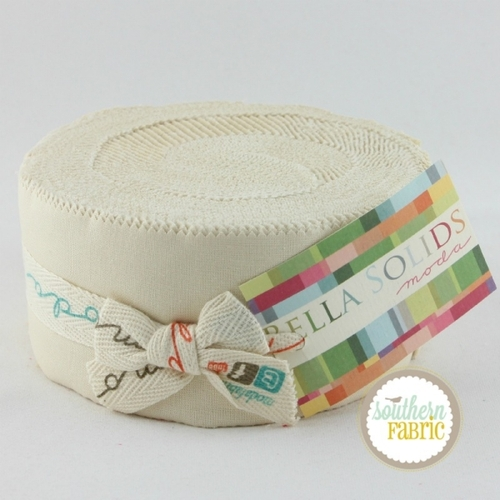 Bella Solids Natural - Jelly Roll (9900JR 12) by Moda House Designer for Moda