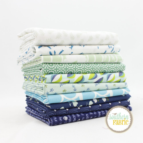 Neptune - Half Yard Bundle (NE.10HY) by Mixed Designers for Southern Fabric