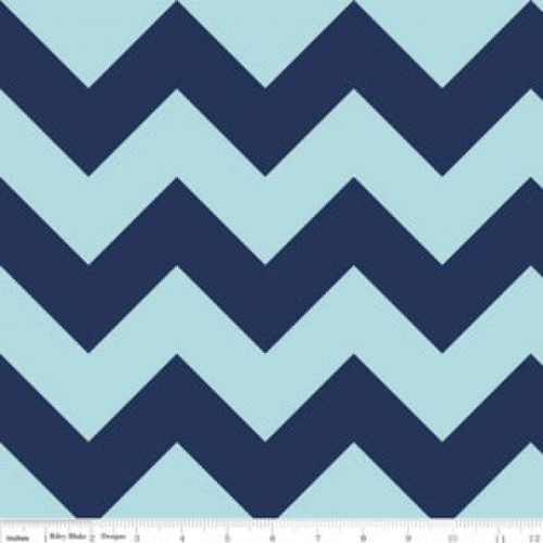 Chevrons Large - Chevron - Tone on Tone - Navy (C390-23) by The RBD Designers for Riley Blake PRICE PER HALF YARD