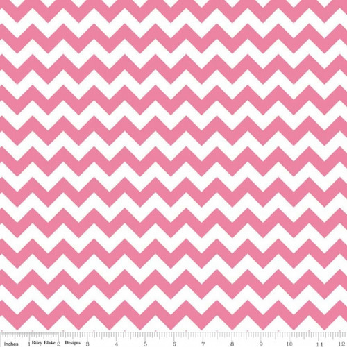 Chevrons Small - Chevron - Hot Pink (C340-70) by The RBD Designers for Riley Blake PRICE PER HALF YARD