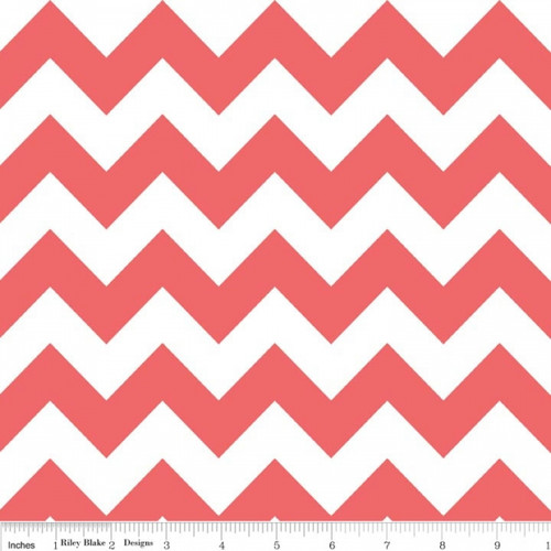 Chevrons Medium - Chevron - Rouge (C320-79) by The RBD Designers for Riley Blake PRICE PER HALF YARD