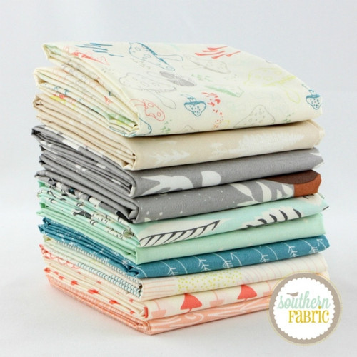Hello, Bear Stone - Fat Quarter Bundle (BC.HB.ST.10FQ) by Bonnie Christine for Art Gallery