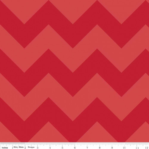 Chevrons Large - Chevron - Tone on Tone - Red (C390-81) by The RBD Designers for Riley Blake PRICE PER HALF YARD