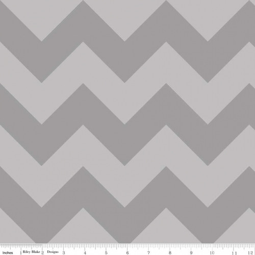 Chevrons Large - Chevron - Tone on Tone - Gray (C390-41) by The RBD Designers for Riley Blake PRICE PER HALF YARD