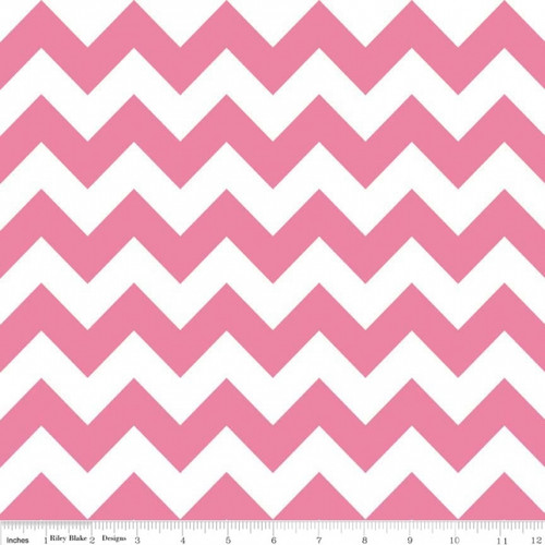 Chevrons Medium - Chevron - Hot Pink (C320-70) by The RBD Designers for Riley Blake PRICE PER HALF YARD