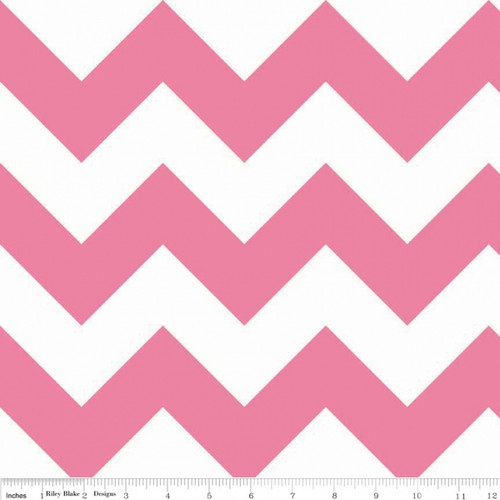 Chevrons Large - Chevron - Hot Pink (C330-70) by The RBD Designers for Riley Blake PRICE PER HALF YARD