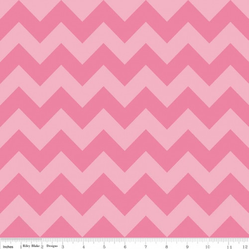 Chevrons Medium - Chevron - Tone on Tone - Hot Pink (C380-71) by The RBD Designers for Riley Blake PRICE PER HALF YARD