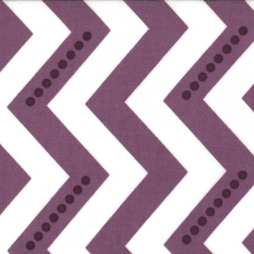 Simply Color - Dotted Zig Zag - White Eggplant (10804 15) by V and Co. for Moda PRICE PER HALF YARD