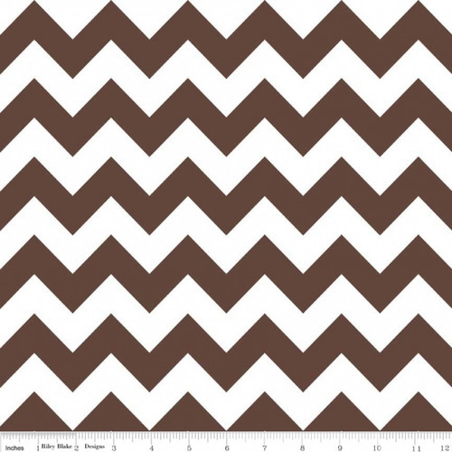 Chevrons Medium - Chevron - Brown (C320-90) by The RBD Designers for Riley Blake PRICE PER HALF YARD