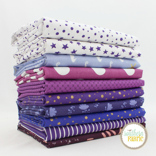 Purple - Violette - Fat Quarter Bundle (10 pcs) by Mixed Designers for Southern Fabric (PURPLE.FQ)