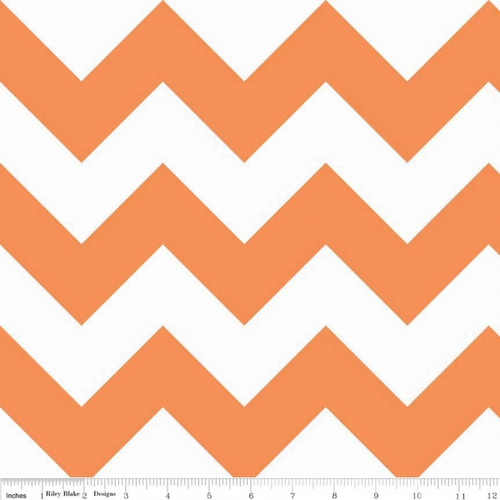 Chevrons Large - Chevron - Orange (C330-60) by The RBD Designers for Riley Blake PRICE PER HALF YARD