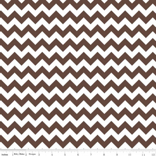 Chevrons Small - Chevron - Brown (C340-90) by The RBD Designers for Riley Blake PRICE PER HALF YARD