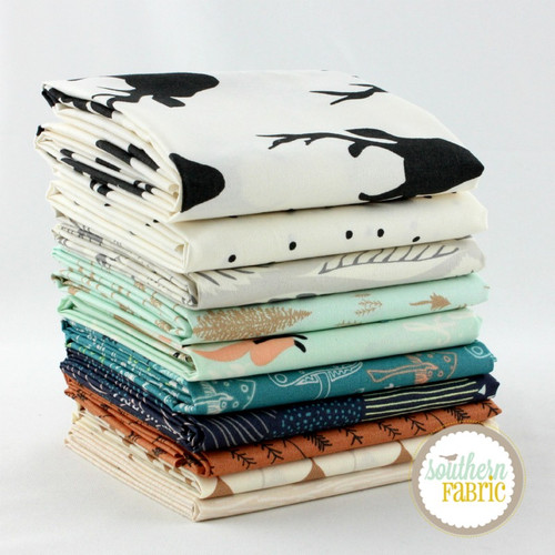 Hello, Bear Timber - Fat Quarter Bundle (BC.HB.TI.9FQ) by Bonnie Christine for Art Gallery