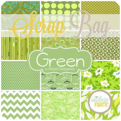Green - Scrap Bag (GR.SB) by Mixed Designers for Southern Fabric