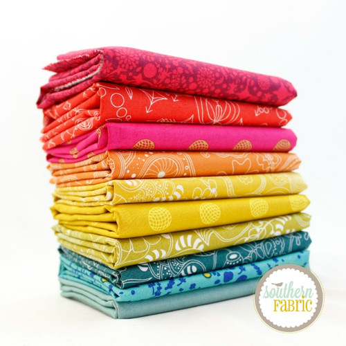Alison Glass Fat Quarter Bundle (10 pcs) by Alison Glass for Andover (AG.10FQ)