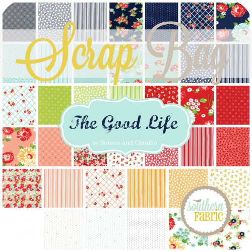 The Good Life Scrap Bag (approx 2 yards) by Bonnie and Camille for Moda (BC.GL.SB)
