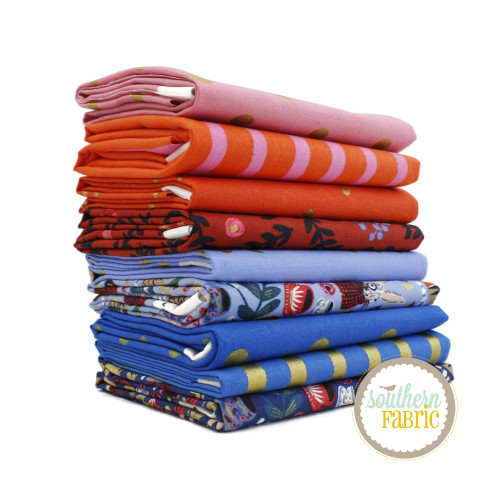 Wonderland Fat Eighth Bundle (9 pcs) by Rifle Paper Co. for Cotton and Steel