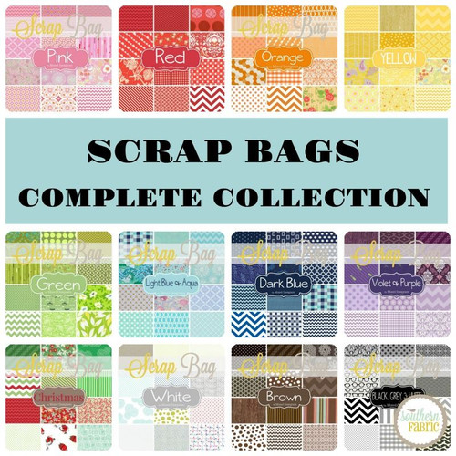 Complete Colors Scrap Bag (approx 2 yards) by Mixed Designers for Southern Fabric (CC.12SB)