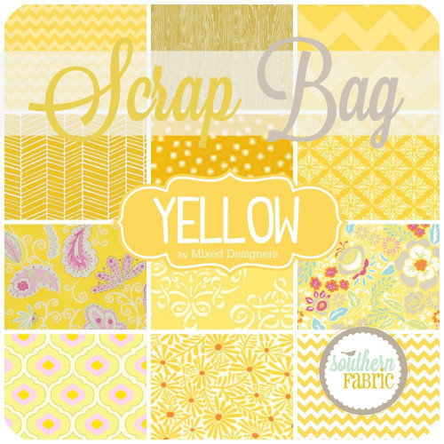 Yellow Scrap Bag (approx 2 yards) by Southern Fabric (YELLOW.SB)