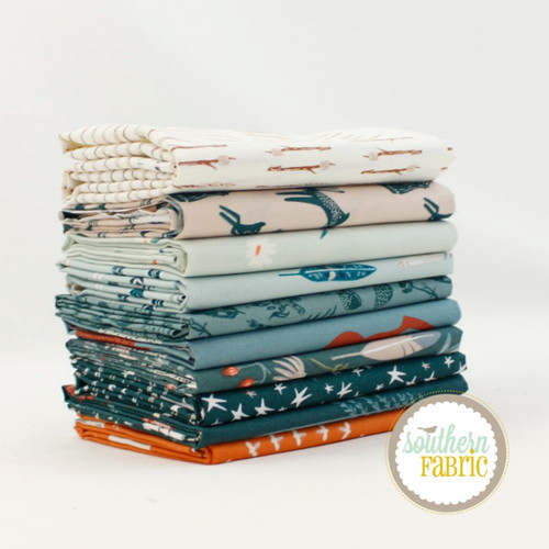 Campsite Fat Quarter Bundle (10 pcs) by Art Gallery Designs for Art Gallery