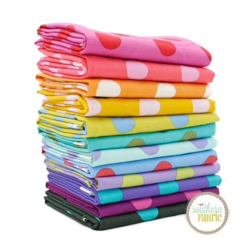 Pom Poms Fat Quarter Bundle (12 pcs) by Tula Pink for Free Spirit (TP.POPO.FQ)
