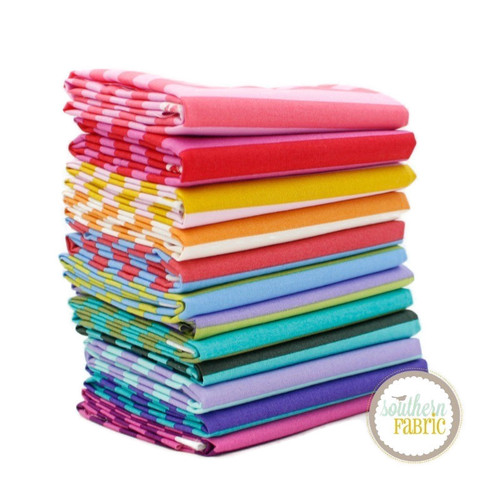 Stripes Fat Quarter Bundle (12 pcs) by Tula Pink for Free Spirit