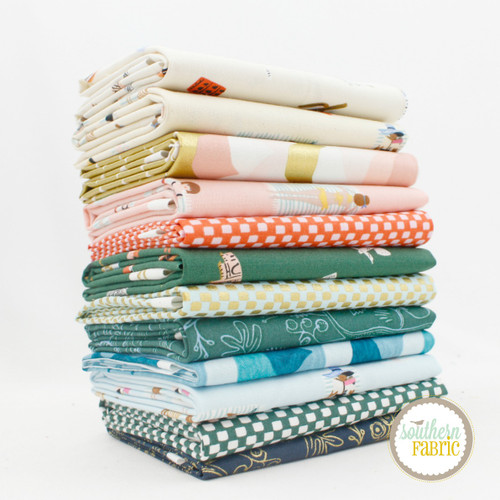 Amalfi Fat Eighth Bundle (12 pcs) by Rifle Paper Co. for Cotton and Steel