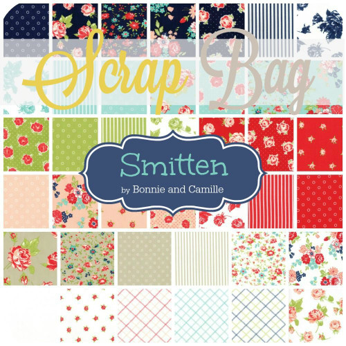 Smitten Scrap Bag (approx 2 yards) by Bonnie and Camille for Moda (BC.SM.SB)