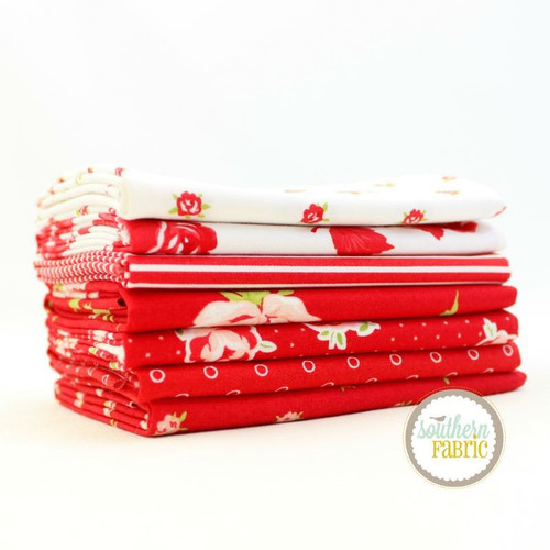 Smitten - Red Fat Eighth Bundle (7 pcs) by Bonnie and Camille for Moda (BC.SM.RE.7F8)