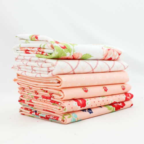 Smitten - Pink Fat Quarter Bundle (6 pcs) by Bonnie and Camille for Moda