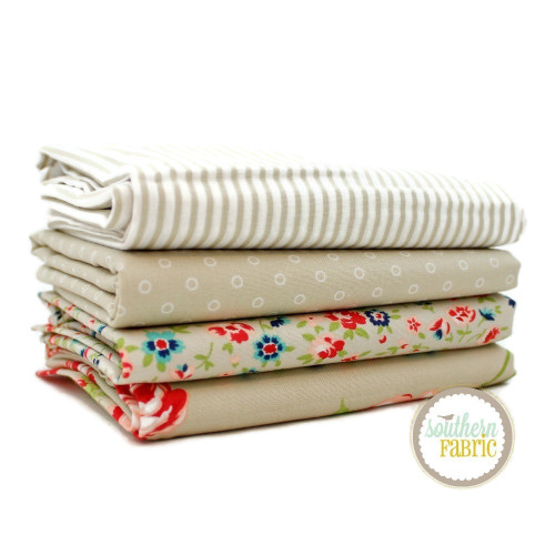 Smitten - Low Volume Half Yard Bundle (4 pcs) by Bonnie and Camille for Moda