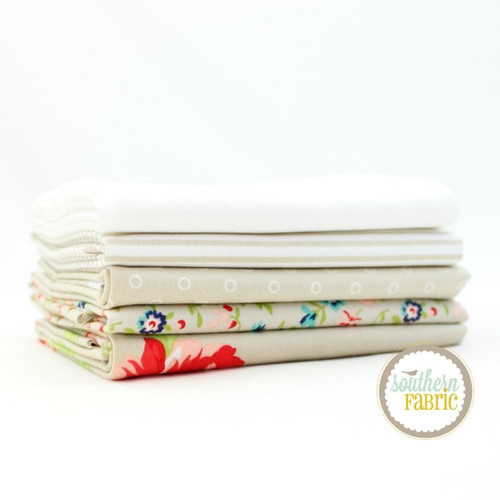 Smitten - Low Volume Fat Quarter Bundle (5 pcs) by Bonnie and Camille for Moda (BC.SM.LV.5FQ)