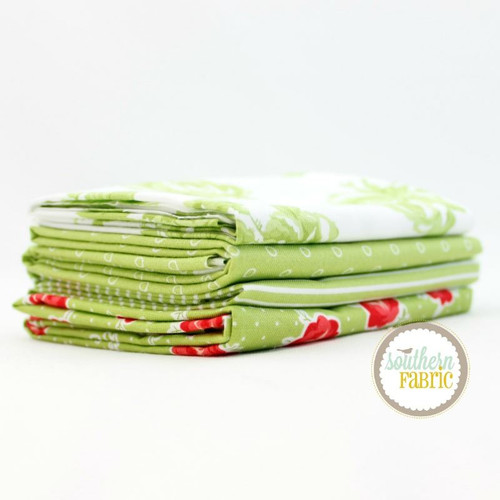 Smitten - Green Half Yard Bundle (10 pcs) by Bonnie and Camille for Moda (BC.SM.GR.4HY)