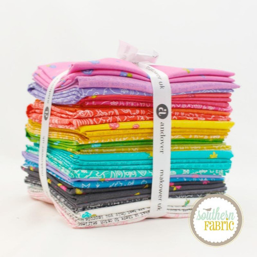 Sun Print 2019 Fat Quarter Bundle (27 pcs) by Alison Glass for Andover (FQ-SP9-X)