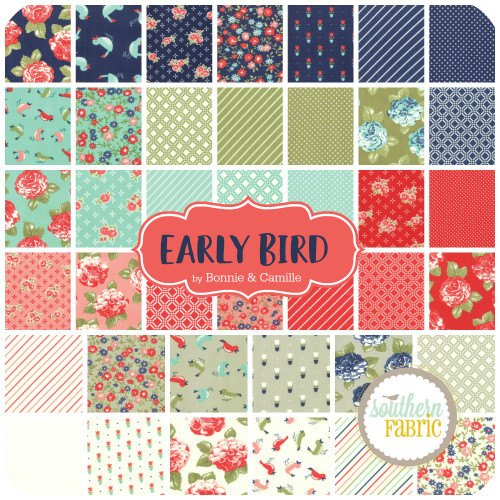 Early Bird Scrap Bag (approx 2 yards) by Bonnie and Camille for Moda (BC.EABI.SB)