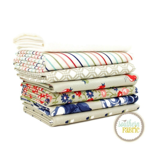Early Bird Grey Fat Quarter Bundle (7 pcs) by Bonnie and Camille for Moda (BC.EB.GR.7FQ)