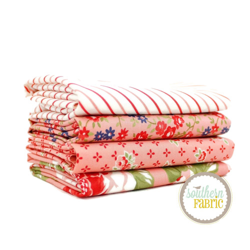 Early Bird Pink Half Yard Bundle (4 pcs) by Bonnie and Camille for Moda (BC.EB.PI.4HY)