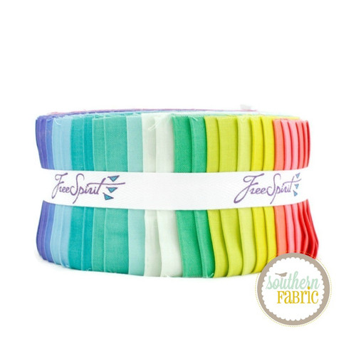 Designer Essentials Jelly Roll (40 pcs) by Tula Pink for Free Spirit (FB3DRTP.SOLID)
