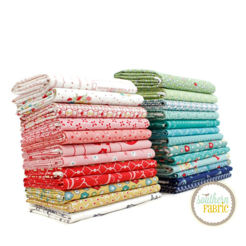 Vintage Happy 2 Fat Eighth Bundle (25 pcs) by Lori Holt for Riley Blake (LH.VH2.F8)