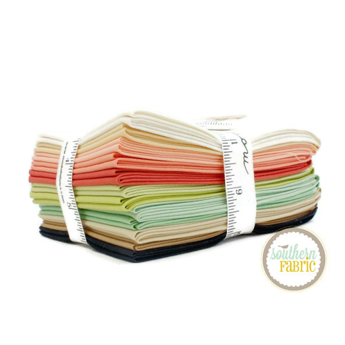 Bella Solids - Fig Tree Fat Quarter Bundle (12 pcs) by Fig Tree and Co for Moda (9900AB FT)