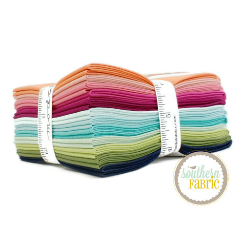 Bella Solids - V and Co. Fat Quarter Bundle (12 pcs) by V and Co. for Moda (9900AB VC)