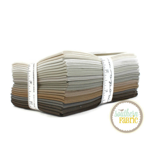 Bella Solids - Taupe Fat Quarter Bundle (12 pcs) by Moda House Designer for Moda (9900AB 121)
