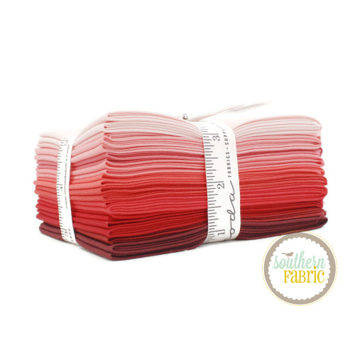 Bella Solids - Red Fat Quarter Bundle (12 pcs) by Moda (9900AB 122)